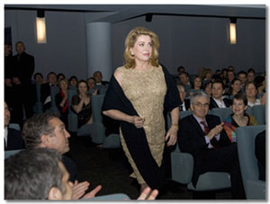 Catherine Deneuve at Cine lumiere
