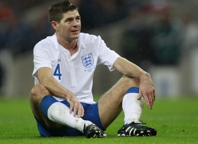 Steven Gerrard had to go off towards the end with a hamstring problem