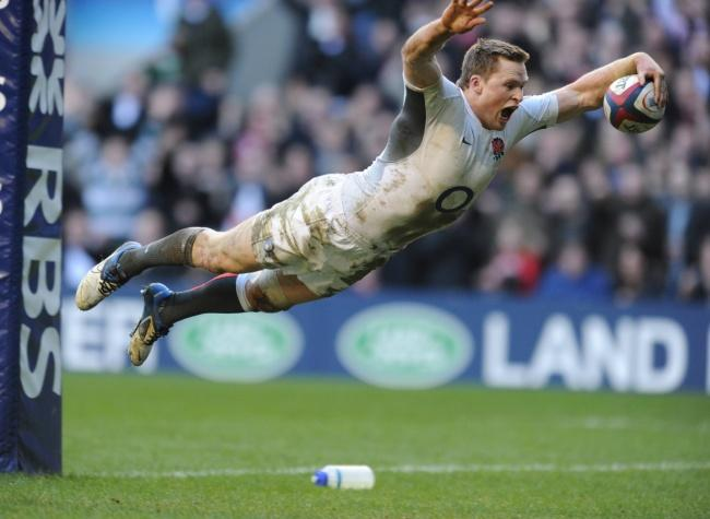 Flying England's Winger Chris Ashton