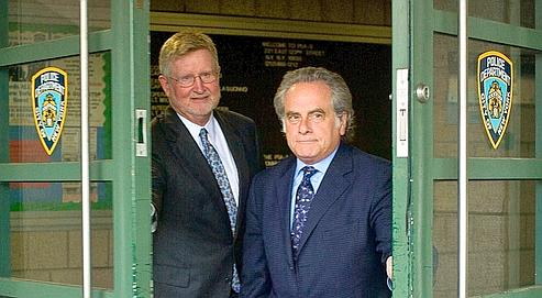 DSK's lawyers William Taylor and Benjamin Brafman. Credits: ALLISON JOYCE/REUTERS