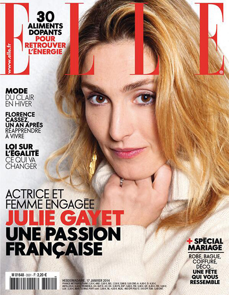 Julie Gayet on the Elle cover