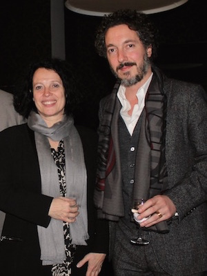 Guillaume Gallienne and Sylvie Bermann (French Ambassador)