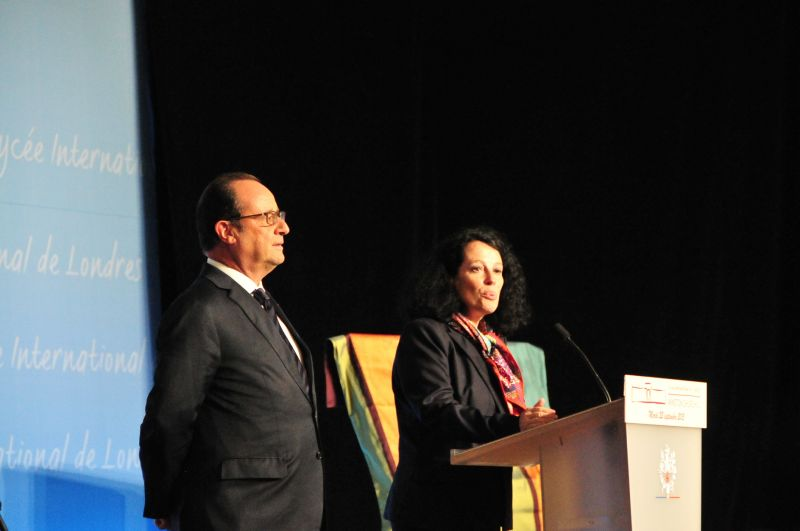 Francois Hollande and Sylvie Bermann