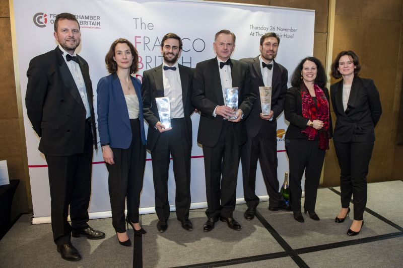 The winners of the Franco-British Business Awards