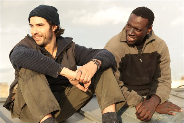 Tahar Rahim with Omar Sy in Samba