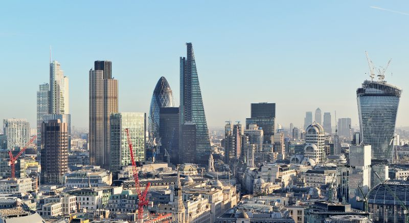 Le quartier de la City à Londres