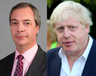 Nigel Farage & Boris Johnson