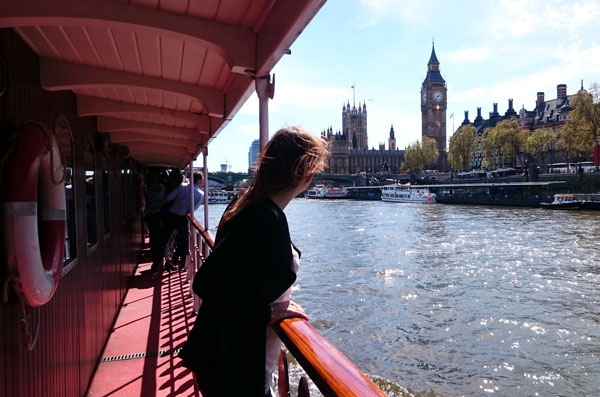 The Palace of Westminster from the BB Boat