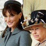 Cartla Bruni Sarkozy and the Queen Elizabeth II