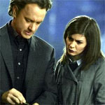 "Tom Hanks and Audrey Tautou in ""The Da Vinci Code"""