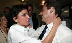 President Sarkozy dancing with his former protégée