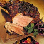 Mustard roast leg of lamb