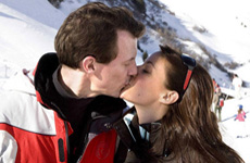 Skiing Danish Royal couple