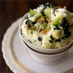 Tatties (mashed potatoes with greens)