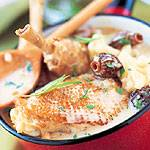 Chicken with morel mushroom and tarragon by Picard frozen food