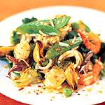 Rice and seafood salad with curry by Picard