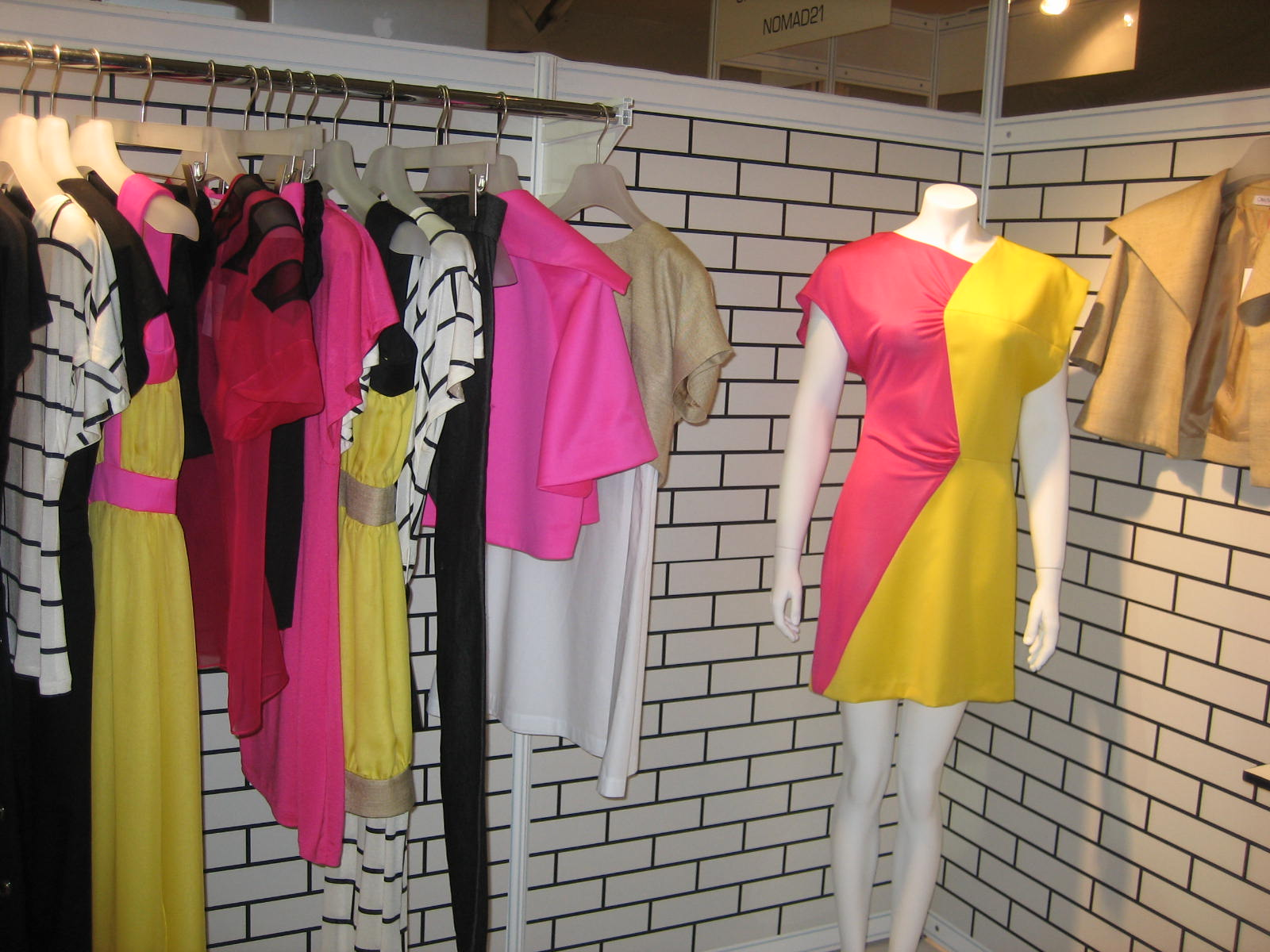 the exhibition at London Fashion Week